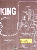 "King 30"", 36"" 46"" 50"" 100"", Vertical Boring Turning Operations Manual"
