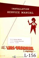 Lee Bradner Type 7A, Hobbing Machine 42 page, Install & Service Manual Year 1959