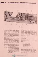 "Leblond, Makino, 24"" Regal Lathes, 3929, Instruciton and Parts Manual Year 1974"