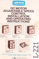 leeson speedmaster dc motor speed control operations and. Black Bedroom Furniture Sets. Home Design Ideas