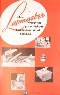 Lapmaster 12C /& 15C Lapping Machine Operating Instructions Manual