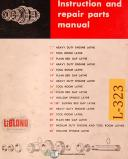 "LeBlond 12"", 14"" 16"" 16/38 20"", Lathe, Instructions and Parts Manual"