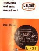 LeBlond No. 4, Dual Drive Lathe, Operations & Maintenance Manual 1956