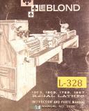 LeBlond 13C3, 15C5 17E5 19E7, Lathes, Instructions & Parts Manual 1974