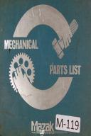 Mazak Yamazaki Mechanical Parts List Quick Turn-8 Machine Manual
