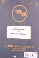 MB C254, Vibration Test Equipment, Operators Instruction Manual Year (1954)