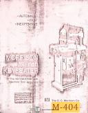 Morrison 1 1/4 Inch, Keyseater System, Parts Manual 1981