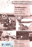 Peddinghaus Model 210 Super II, Shearing & Punching, Operation & Parts Manual