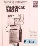 Peddinghaus PeddiCat 360H, 210 Super II Punch & Shear, Operation & Parts Manual