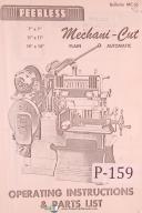 "Peerless 7"", 11"", 14"", Mechani-Cut Saw Machine Operation & Parts Manual 1957"
