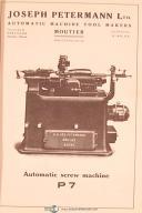 Petermann P7 Screw Machine Vintage Operations Handbook Manual