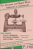 Panto UE & UE-2 Engraver, UE Marker, UA Etcher Operation & Parts Manual Yr. 1939