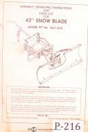 "Peeco 42"" Snowblade, 5661-0100, Assembly - Operations & Parts Manual"