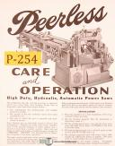 Peerless High Duty Automatic Saw, Care & Operations Manual