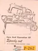 "Peerless 6"" x 6"", 3 Speed Band Saw, Instructions and Parts Manual"