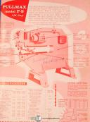 Pullmax P9, shearing Forming Nibbler, Operations & Parts Manual 1957