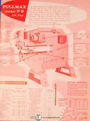 Pullmax P9, shearing Forming Nibbler, Operations & Parts Manual 1957