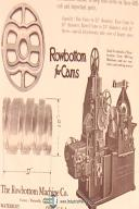 RowBottom # 325 Universal Cam Milling Machine Parts Specs & Drawings Manual 1942