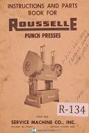 Rousselle 5-110 Ton Punch Press Service Operations & Parts Manual 1969