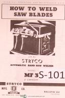 Stryco Operators Instruction Auto Bandsaw Welder MF-3 Manual
