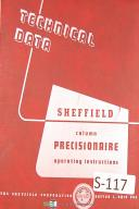 Sheffield Precisionaire Testing Machine Operatoars Instruction Manual Year 1949