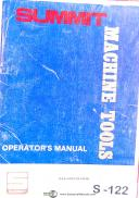Summit 19-4 & Super 20 Lathe, Operations and Parts Lists Manual Year (1980)