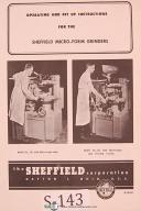 Sheffield Model 121, 122 Micro Form Grinder Operation & Service Manual 1952