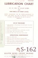 South Bend Lathe Works Lubrication Charts No. 5426 Manual