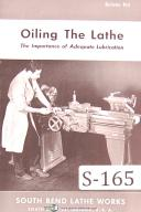 "South Bend Lathe Works, ""Oiling The Lathe"", Manual"