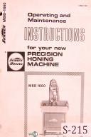 Operations Maintenance /& Wiring Manual Sunnen MBB-1600 1600MS 1600JIC