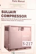 Sullair Series 12, 16, 50, 50, 60, 75 HP & 24 KT, Screw Compressor, Parts Manual