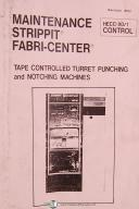 Strippit HECC-80/1, Tape Controlled Turret Punch and Notching Press Manual 1979