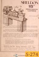 "Sheldon 15"", Lathe Parts Manual"