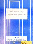 Seva UL CSA, Stationary Molt, Polishing Machine, Owners Instructions Manual 1973