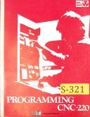 Pullmax SMT Swedturn 20, CNC 220 control, Lathe Programming Manual 1974