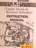 Sugino Selfeeder, Tapper Heads & Reversal Selfeeder Instructions & Parts Manual