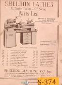 "Sheldon XL Series, 10"" Swing Lathes, Parts Manual"
