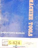 "Summit 4 1/8"" HBM, Milling Operations Parts & Electrical Manual 1941"