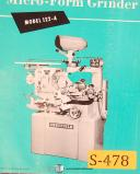 Sheffield 122-A, Micro Form Grinder, Operations and Parts Manual