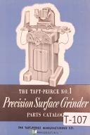 Taft Peirce No. 1 Precision Sufrace Grinders Parts Manual Year (1956)
