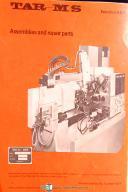 Tarnex Manurhin TAR-M, Machining Center, Programming - Install & Maint. Manual