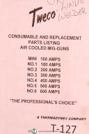 Tweco Mini-No. 6, Air Cooled Mig Guns, Replacement Parts List Manual