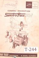 Tru-Trace, Synchro Trace 3D, Programmed Mill Control Design & Set Up Manual 1965