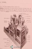Trebel Balancing Machine, Install - Opeations - Maintenance Manual Year (1957)