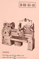 Tos SN 40A, 45A 50A, Centre Lathe Technical Instructions Manual Year (1968)
