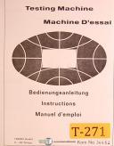 Trebel Schenck RME, Testing Machine, Instructions & Wiring Manual