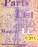 Takisawa Le, Lathe, Operations and Parts Manual