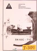TOS 63C-71C, Lathe Operations Maintenance and Electrical Manual 1962
