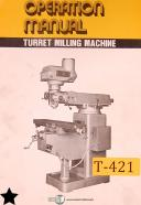 Turret Machinery 2H and 2VH, Milling Operations and Parts Manual 1984
