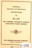 Van Norman No. 657, Auto Internal Oscillating Grinder, Install & Ops Manual